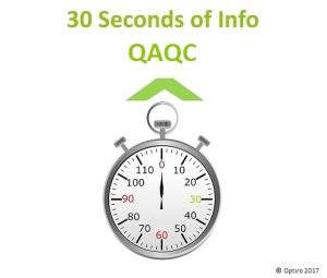 30 Seconds of Info: QAQC – from Ian Glacken