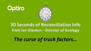 30 Seconds of Reconciliation Info: The curse of truck factors.