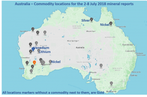 Summary of global mineral intelligence for 2-8 July 2018