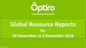 Summary of Global Resource Reporting Intel for the week of the 26 Nov to 2 Dec 2018