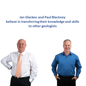 Ian and Paul believe in transferring their knowledge and skills to other geologists