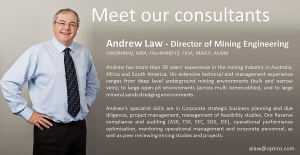 Meet our Consultants: Andrew Law – Director of Mining Engineering
