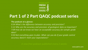 Part 1 of the QAQC Podcast… accuracy and precision.