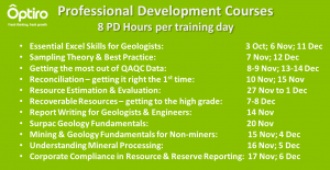 Professional Development Courses – 8 PD HOURS AusIMM rating per training day