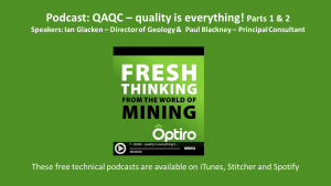 PODCAST: QAQC – quality is everything! Part 1 and 2 now available.