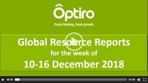 Summary of global resource reporting intel for the week of the 10-16 Dec 2018